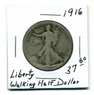 Liberty Walking Half Dollar 1916,  Good photo