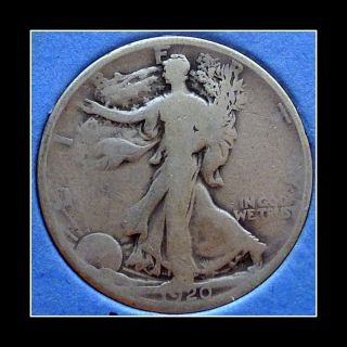 1920 - S Us Walking Liberty Half Dollar photo