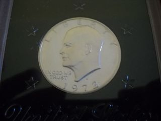 1972 - S Proof Eisenhower Silver Dollar With Case photo
