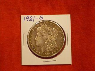 1921 - S Morgan Silver Dollar Coin photo