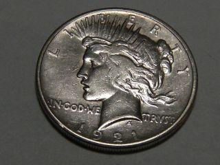 1921 Silver Peace Dollar 5220a photo