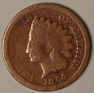 1864 Indian Head Penny,  Aa 42 photo