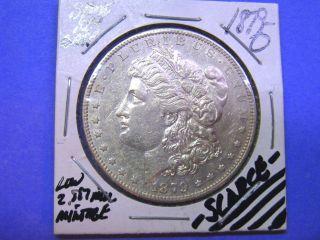 1879 - O U S Morgan Dollar Au++ Low Mintage Semi - Key Date 1/2 Ship photo