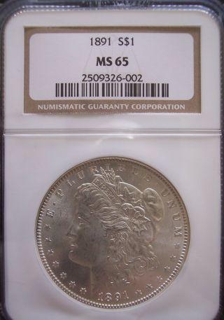 1891 P Morgan Silver Dollar Ms65 Ngc photo