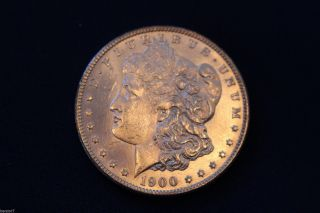 1900 Morgan Silver Dollar Brilliant Uncirculated M1262 photo