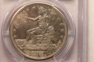 1874s Trade Dollar - Au Details photo