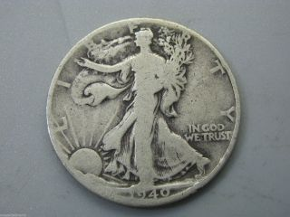 1940 Walking Liberty Half Dollar United States Coin G - Ag photo