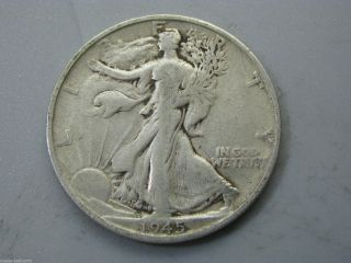 1945 - S Walking Liberty Half Dollar United States Coin G photo