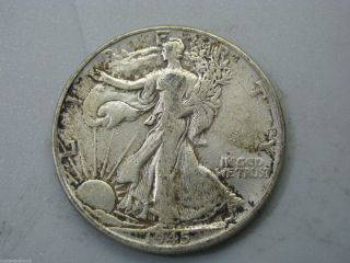 1945 Walking Liberty Half Dollar United States Coin F photo