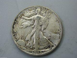 1945 Walking Liberty Half Dollar United States Coin F photo