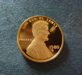 1980 - S Gem Proof Lincoln Cent Deep Cameo