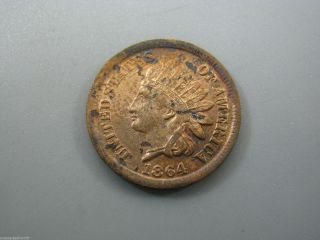 1864 Indian Head Cent United States Coin Xf Nc16 photo