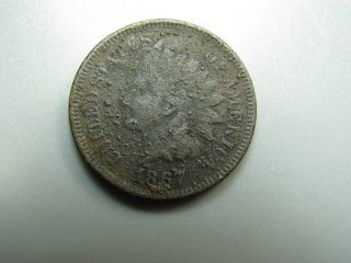 1867 Indian Head Cent United States Coin G Nc01 photo