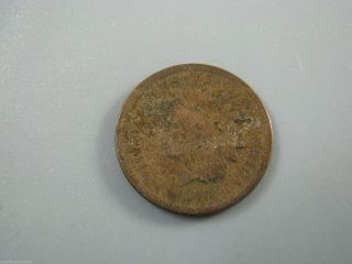 1873 Indian Head Cent United States Coin G photo