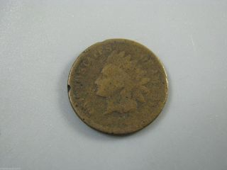 1873 Indian Head Cent United States Coin Ag Nc03 photo