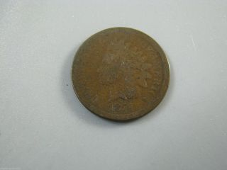 1874 Indian Head Cent United States Coin G photo