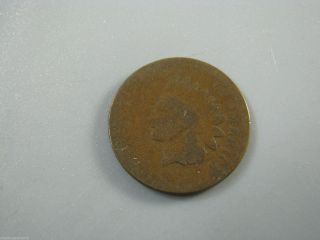 1873 Indian Head Cent United States Coin Ag photo