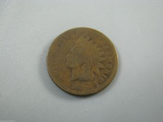 1873 Indian Head Cent United States Coin Ag - G photo