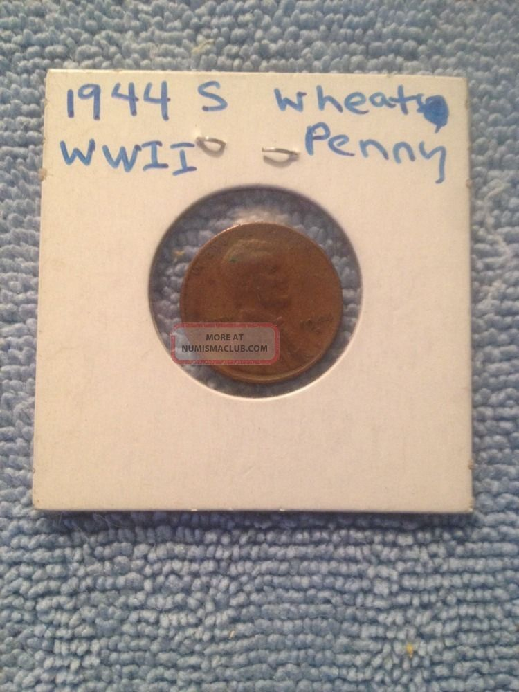 1944 S Lincoln Wheat Cent Wwii Fast Small Cents photo