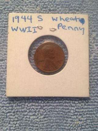 1944 S Lincoln Wheat Cent Wwii Fast photo