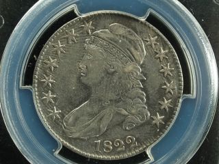 1822 50c Capped Bust Half Dollar O - 115 Pcgs Au Details Cleaning photo