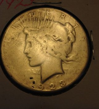 1923 - D Peace Silver Dollar Coin photo