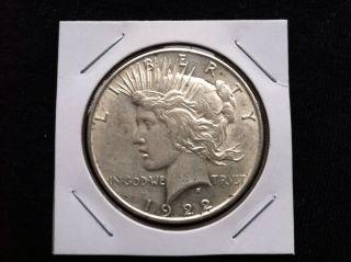 1922 P Peace 90% Silver Dollar.  900 Fine Silver & Usa photo
