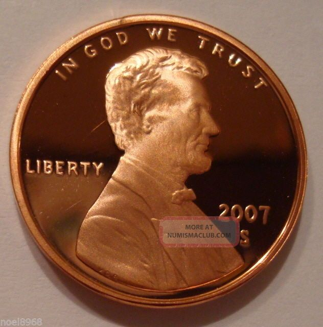 2007 - S Gem Proof Lincoln Cent Ultra Cameo Small Cents photo