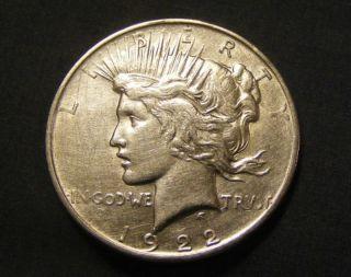 1922 D Peace Dollar 90% Silver 454751 - 68 photo