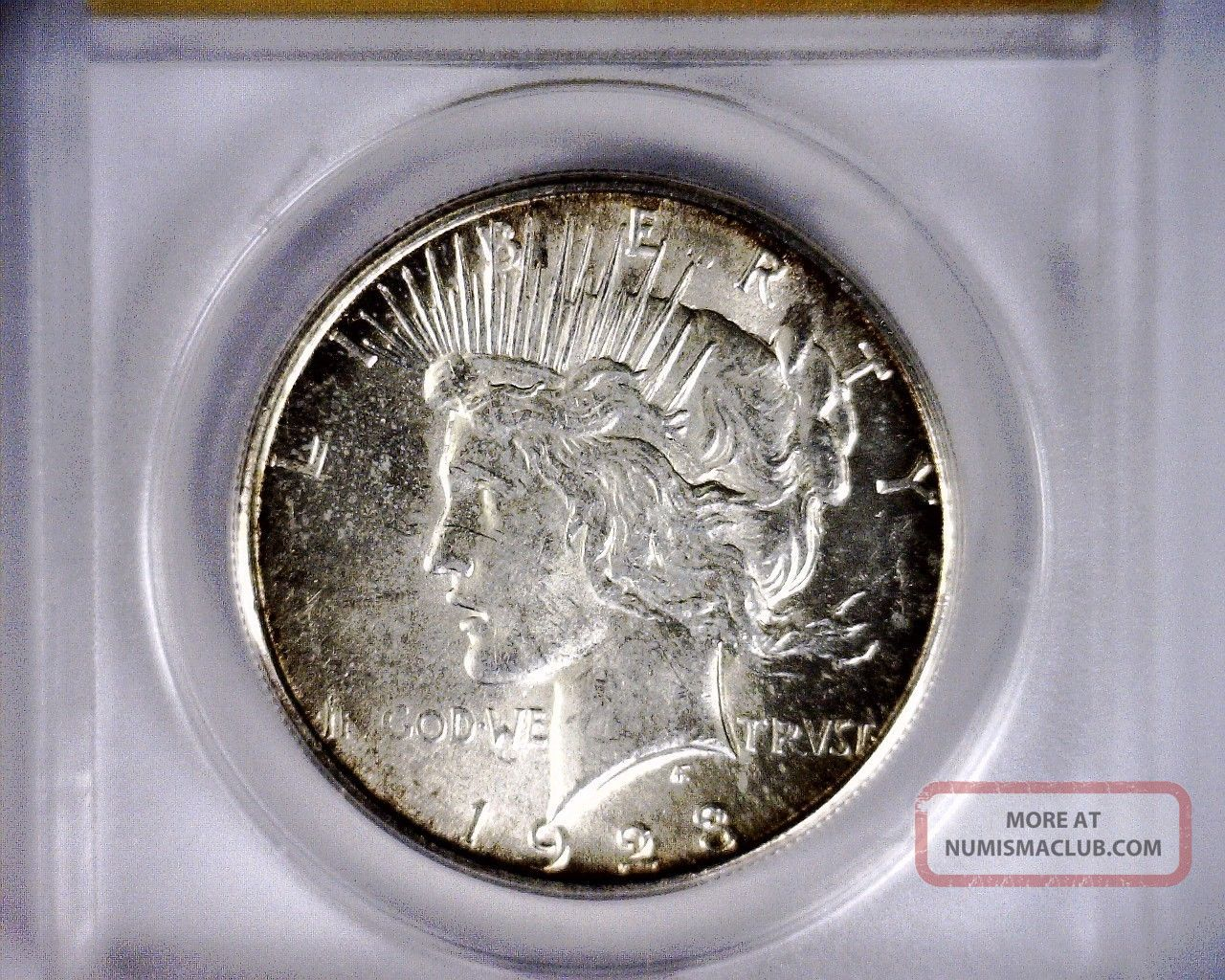 Anacs Ms61 1923s Mostly Blast White Peace Silver Dollar