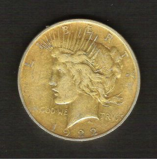 1922 - D__peace Silver Dollar__toned Xf Coin__ 901830 photo