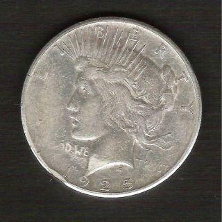 1925 - S__peace Silver Dollar__nice Xf Coin__ 730831 photo