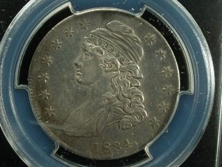 1834 50c Sm Date Small Letters Capped Bust Half Dollar O - 117 Pcgs Au Details photo