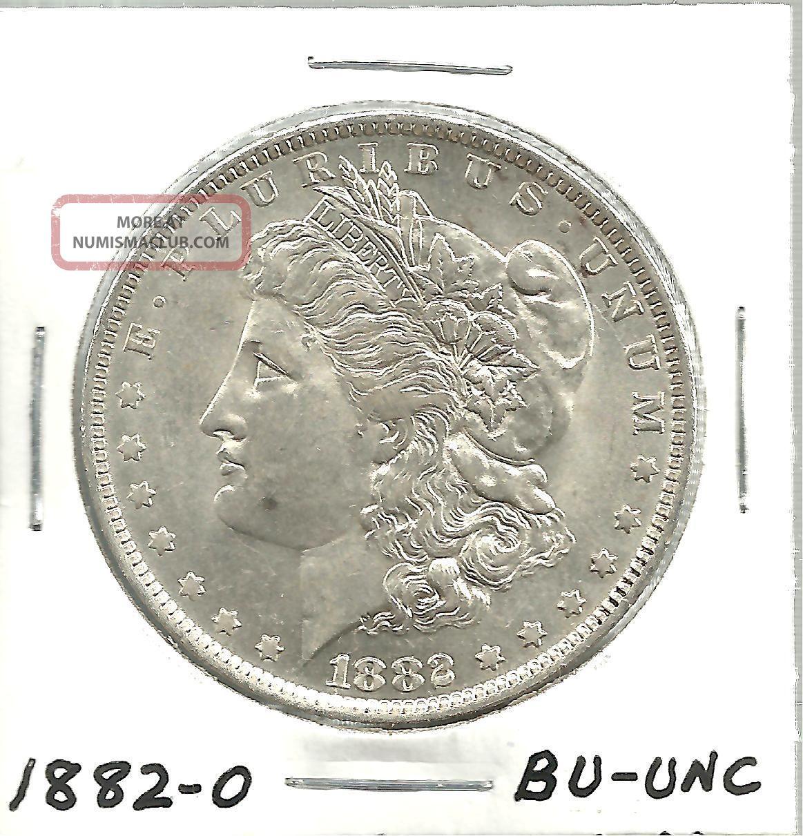 1882 O Morgan Silver Dollar Bu Unc 2145la4
