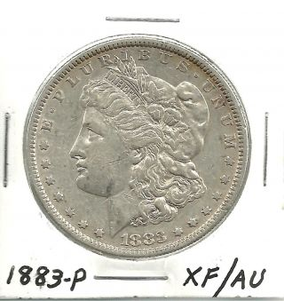 1883 - P___morgan Silver Dollar___xf/au__ 958kj5 photo