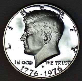 1976 - S Kennedy Half Dollar Dcam Proof 40% Silver Bicentennial (m31406) photo