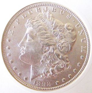 1898 - O Morgan Silver Dollar - Brilliant Uncirculated - Morgan Dollar photo