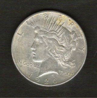 1926 - D__peace Silver Dollar__nice Xf/au Coin___ 639831 photo