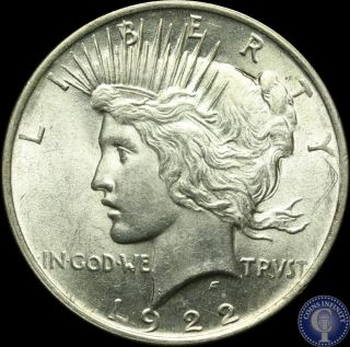 1922 P Near Gem Bu Silver Peace Dollar C28 photo