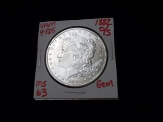 1882 - O $1 Vam 4 O/s Eds Morgan Silver Dollar - Gem Pq - Ms+++ - Rare O/s Variety photo