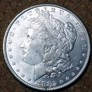 1882 Better Grade Morgan Silver Dollar photo