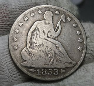 1853 - O Seated Liberty Half Dollar.  Semi - Key Date Only 1,  328,  000 Minted (1901) photo