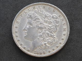 1889 - P Morgan Silver Dollar U.  S.  Coin A5773 photo