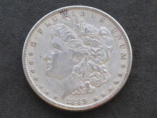 1889 - P Morgan Silver Dollar U.  S.  Coin A5779 photo