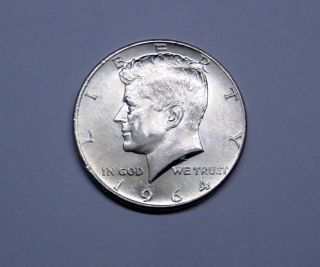 Silver 1964 Kennedy Half In Unc photo