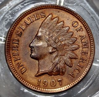 Bu/red Brown 1907 - P Indian Head Cent. . . . . .  6993 photo