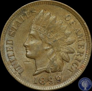 1899 Indian Head Cent 1c Key Date Au/unc Us Coin 18 photo