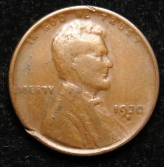 1930 D Lincoln Wheat Cent Penny Fine (b05) photo
