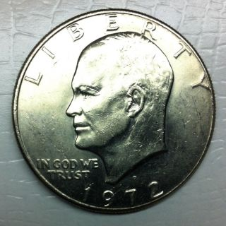 Us Eisenhower 1 Dollar Coin 1972 photo