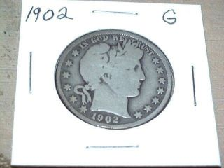 1902 Barber Silver Half Dollar photo